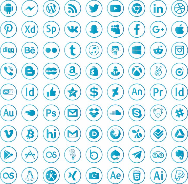 social media font by elharrak