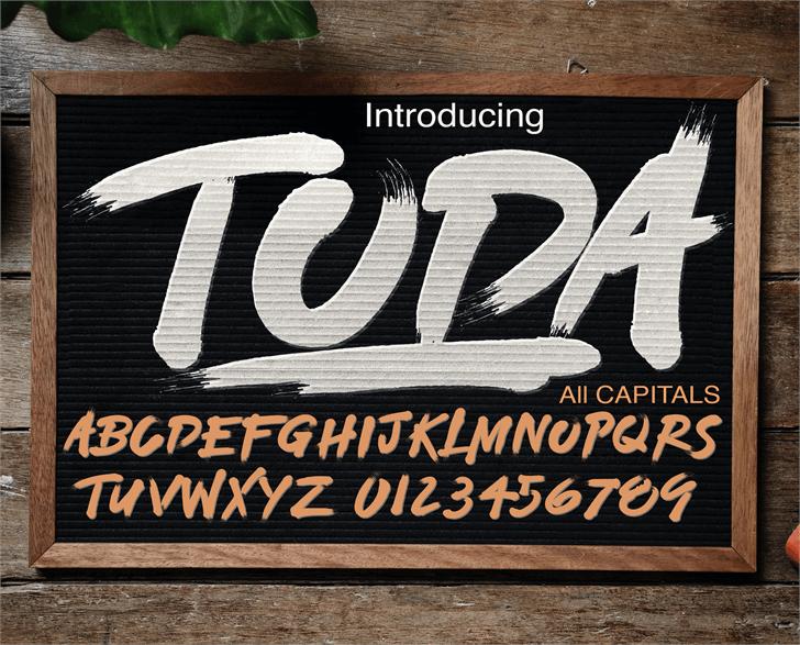 TODA DEMO font by knackpackstudio