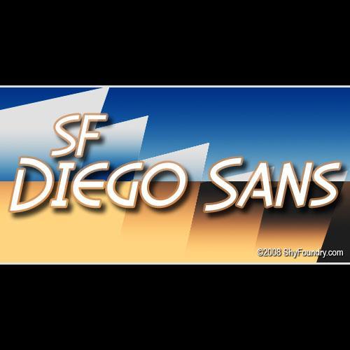 SF Diego Sans font by ShyFoundry