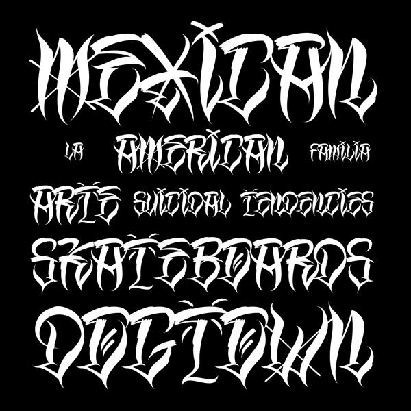 Los Angeles Homies font by GP Typefoundry