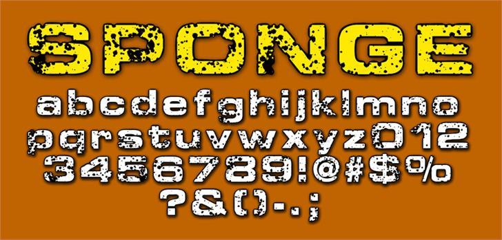 Sponge font by CloutierFontes