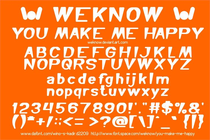 You Make Me Happy font by weknow