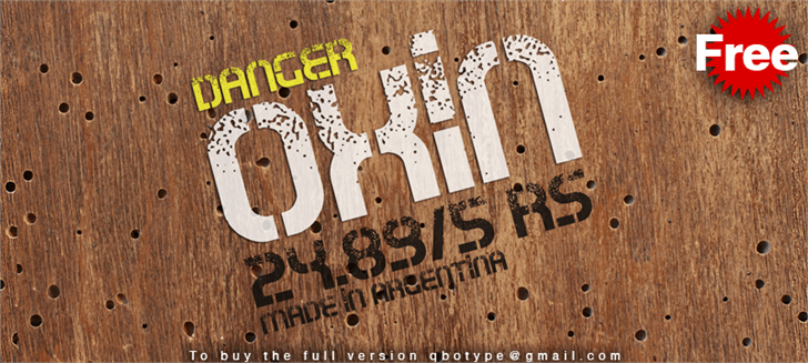 Oxin War font by Qbotype Fonts