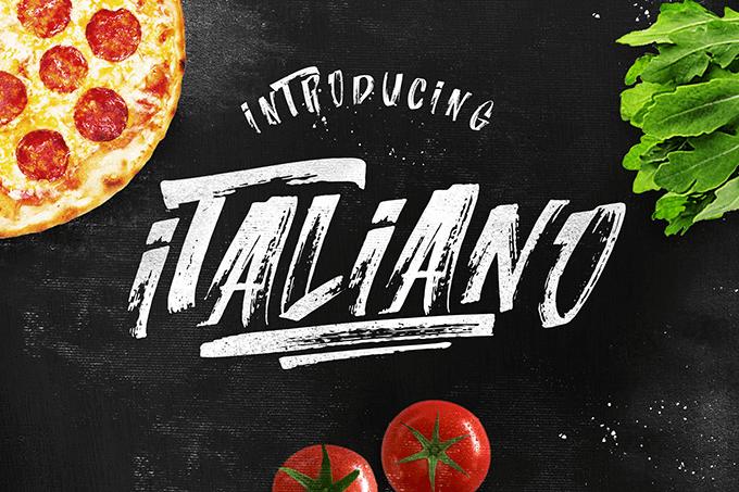Italiano  font by LeoSupply.co