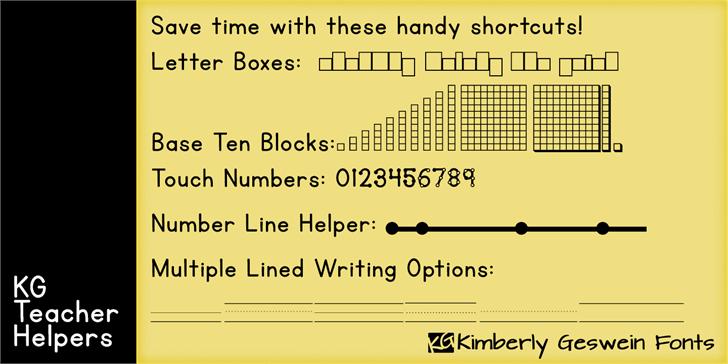 KG Teacher Helpers font by Kimberly Geswein