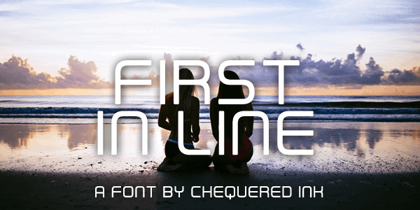 First In Line font by Chequered Ink