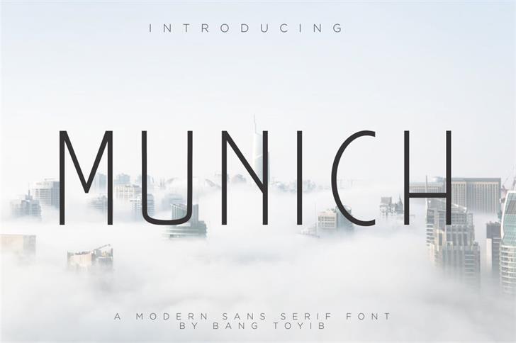 MUNICH  font by Bangtoyib