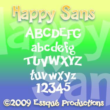 Happy Sans font by Essqué Productions