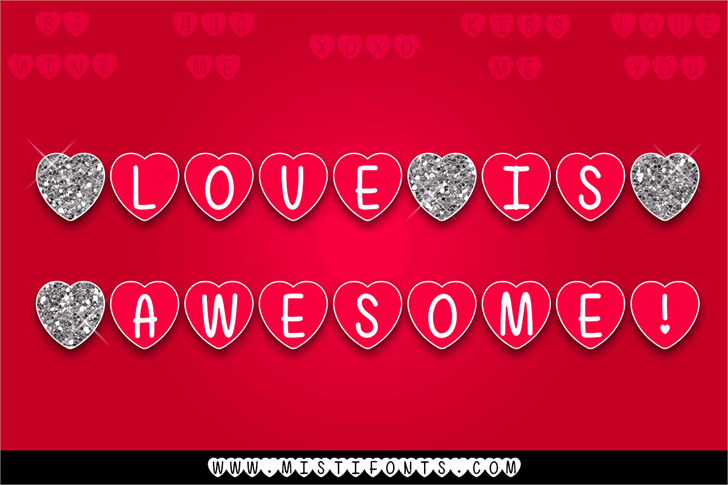 Mf Love Is Awesome font by Misti's Fonts