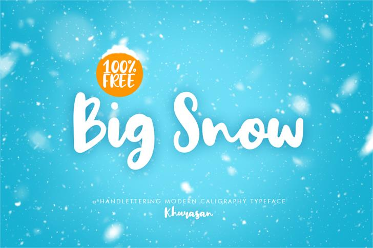 Big Snow font by Khurasan