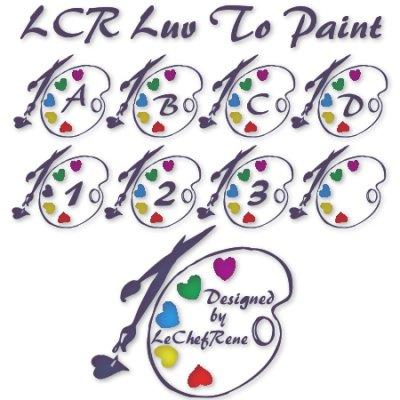 LCR Luv To Paint font by LeChefRene