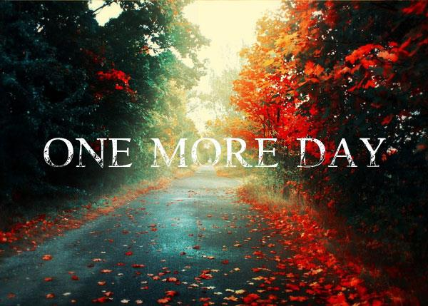 One more Day font by Chris Vile