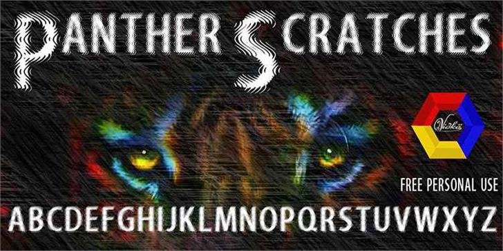 Panther Scratches font by vidka