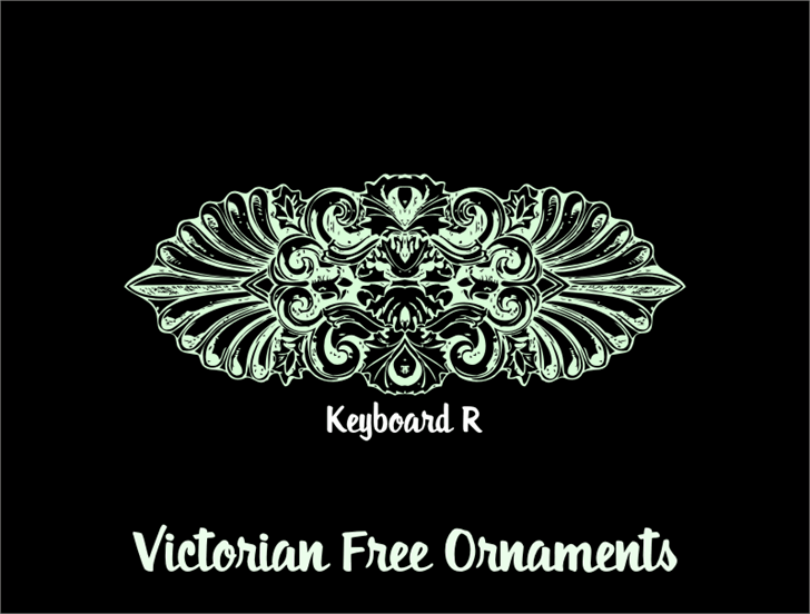 Victorian Free Ornaments font by Intellecta Design