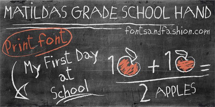 MATILDAS GRADE SCHOOL HAND_DEMO font by Fontsandfashion