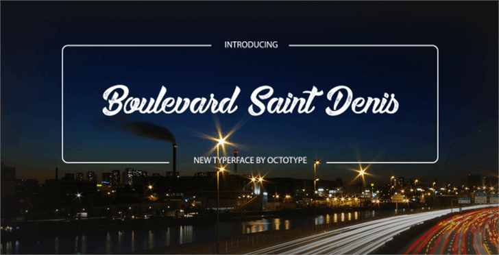 Boulevard Saint Denis font by Octotype