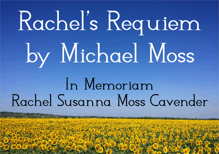 Rachel's Requiem font by Mechanismatic