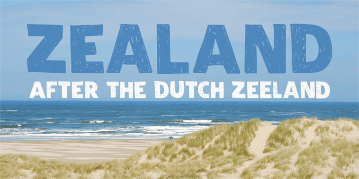 DK Zealand font by David Kerkhoff