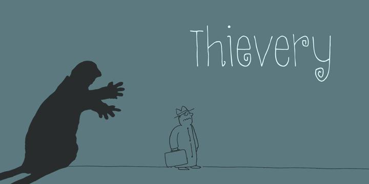 DK Thievery font by David Kerkhoff