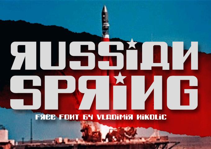 Russian Spring font by Vladimir Nikolic