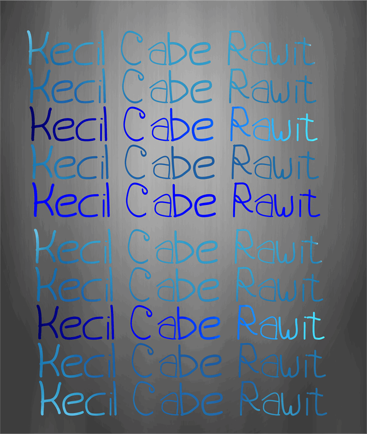 Kecil Cabe Rawit font by Murizar