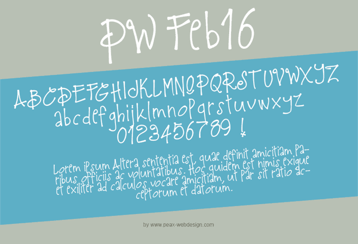 PWFeb16 font by Peax Webdesign