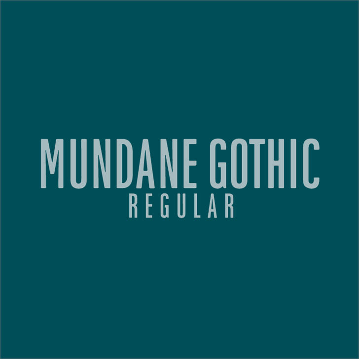 Mundane Gothic font by HENRIavecunK