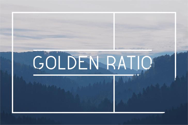 Golden Ratio Demo font by Valentin François