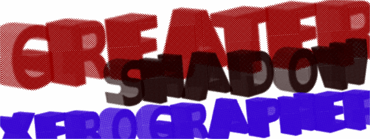 GreaterShadow font by Xerographer Fonts