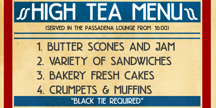 DK High Tea font by David Kerkhoff