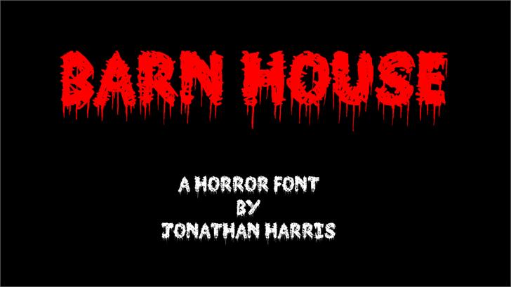 Barn House font by Jonathan S. Harris