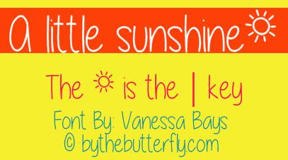 A little sunshine font by ByTheButterfly