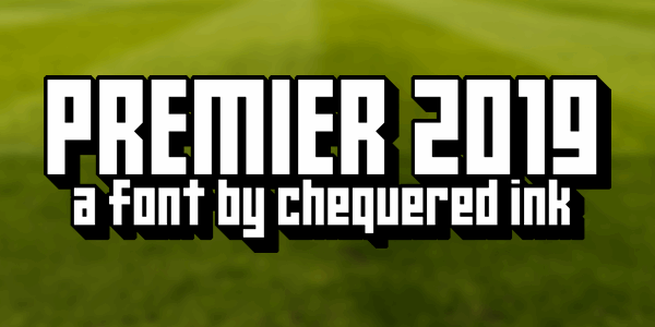Premier 2019 font by Chequered Ink