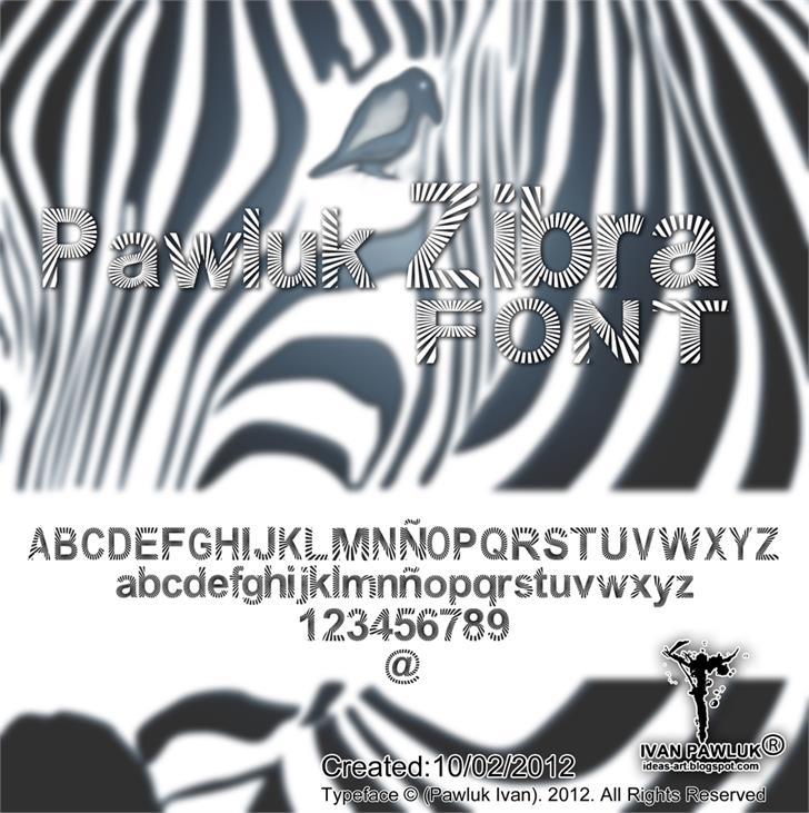 PAWLUK ZIBRA font by Pawluk Ivan