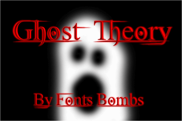 Ghost Theory font by Fonts bomb