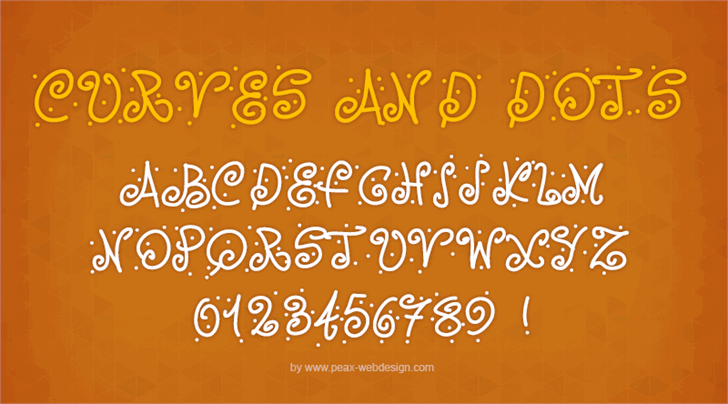 PWCurvesAndDots font by Peax Webdesign