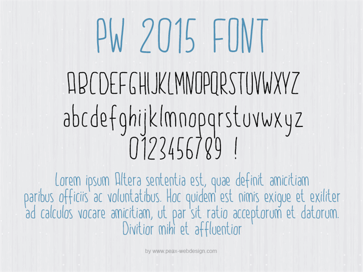 PW2015 font by Peax Webdesign