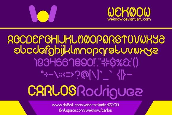 carlos font by weknow