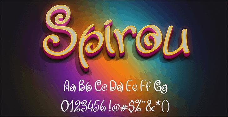 Spirou font by William Medeiros
