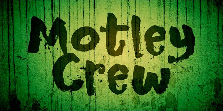 DK Motley Crew font by David Kerkhoff
