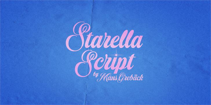 Starella Script PERSONAL USE font by Måns Grebäck