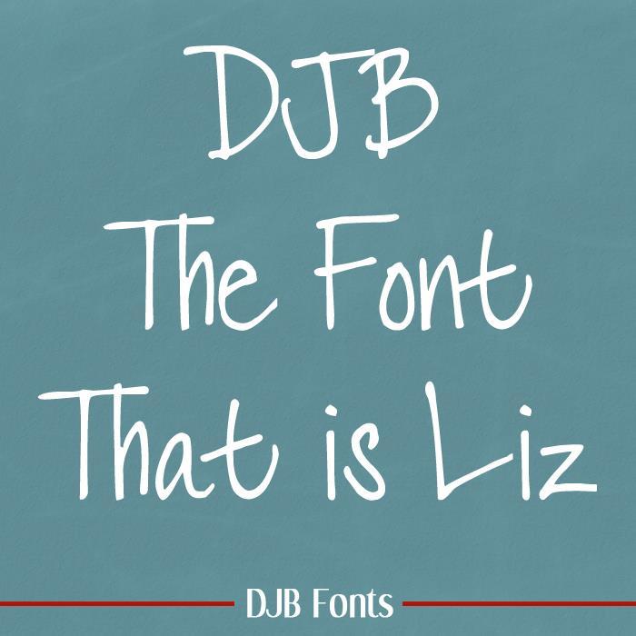 DJB LIZ font by Darcy Baldwin Fonts
