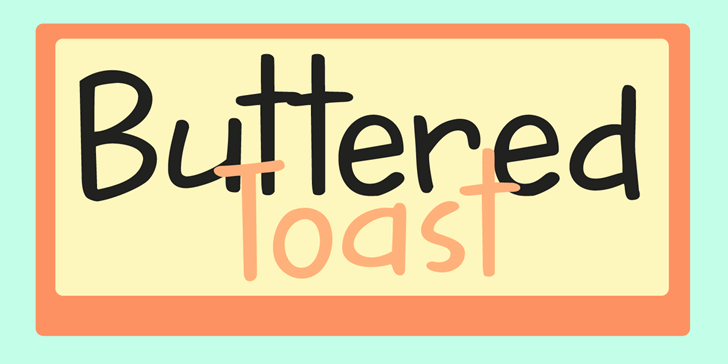 DK Buttered Toast font by David Kerkhoff
