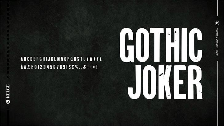 Gothic Joker Font poster