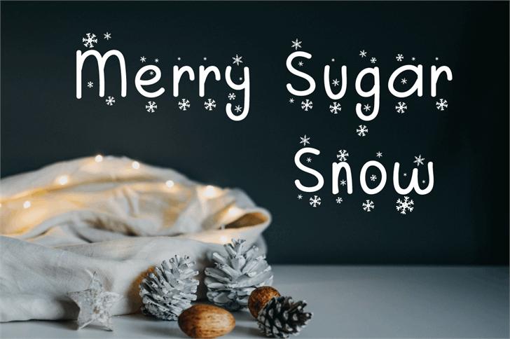 Merry Sugar Font food design