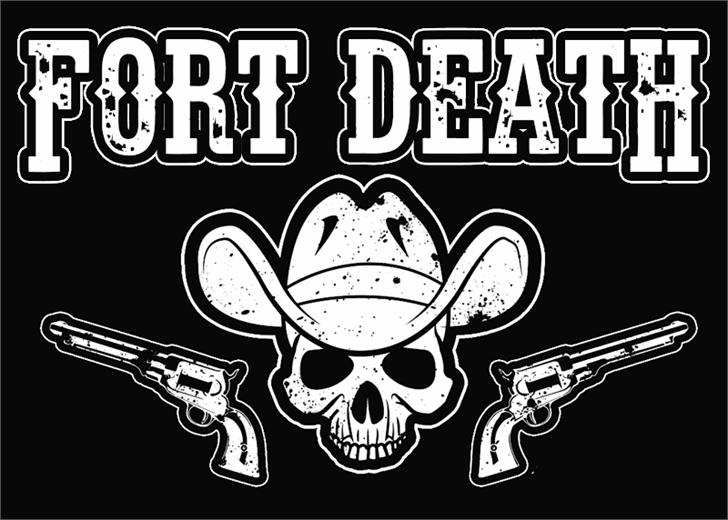 Fort Death Font cartoon book