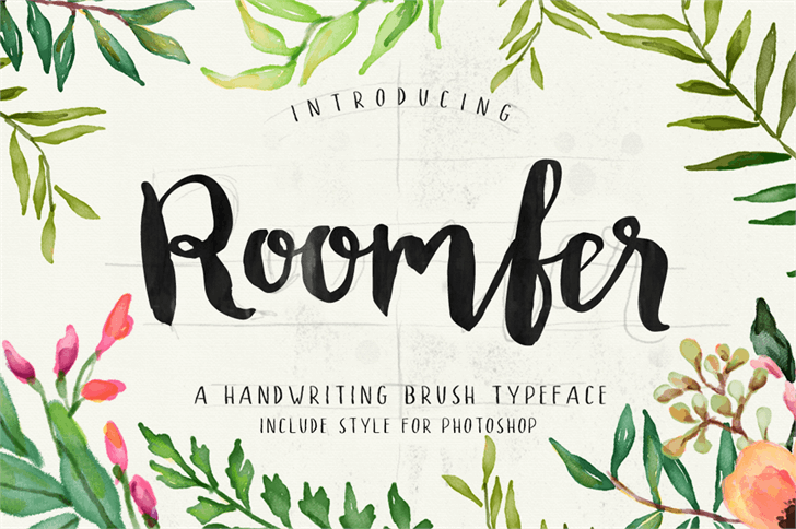 Roomfer Font text design