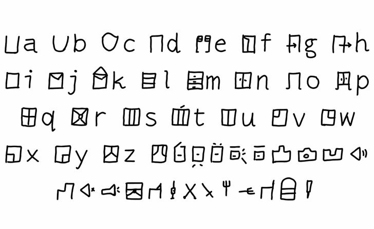 mantrakshsr B Font Letters Charmap