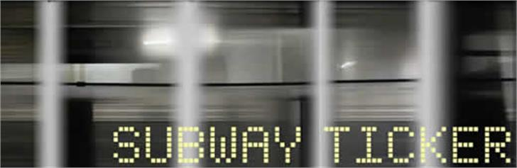 Subway Ticker font by K-Type