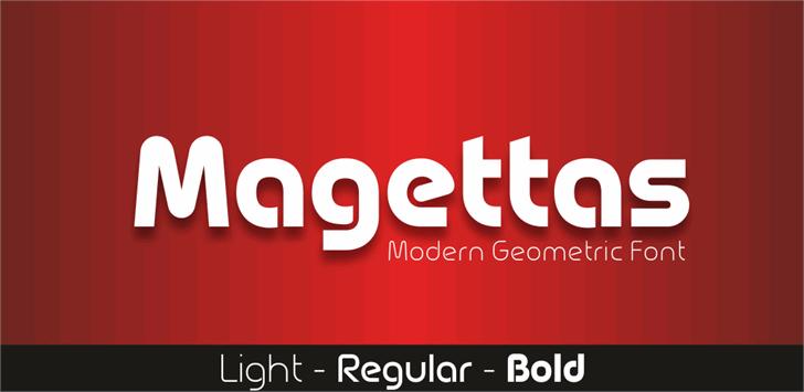 Magettas DEMO Font design graphic